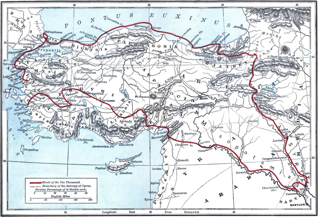 91. The Anabasis (The Persian expedition) by Xenophon (c.370BC)